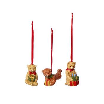 Nostalgic Ornaments set de ornamentos con motivo de osito de peluche, varios colores, 3 piezas, 9,5cm