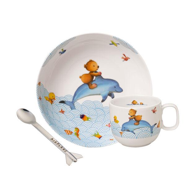 Happy as a Bear Set di stoviglie per bambini, 3pz., , large