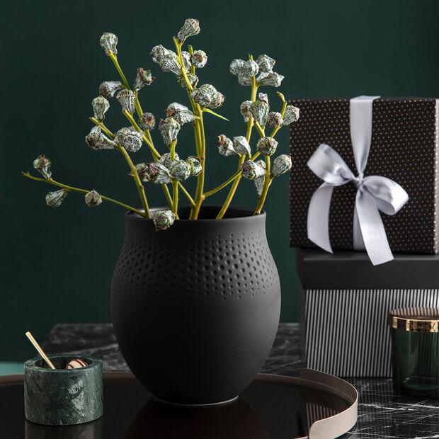 Manufacture Collier noir Vaso Perle grande 16,5x16,5x17,5cm, , large