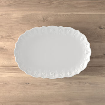 Toy's Delight Royal Classic piatto ovale, bianco, 42 x 29 x 4 cm