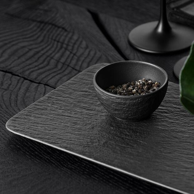 Manufacture Rock piatto da portata rettangolare, nero/grigio, 35 x 18 x 1 cm, , large