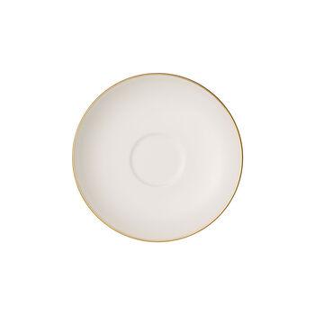 Anmut Gold piattino da moka/espresso, diametro 12 cm, bianco/oro