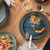 Crafted Denim plato hondo, azul, 21,5 cm, , large