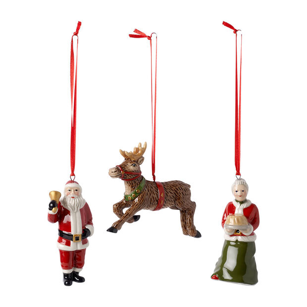 Nostalgic Ornaments Ornamenti North Pole Express Set 3pz 9,5cm, , large