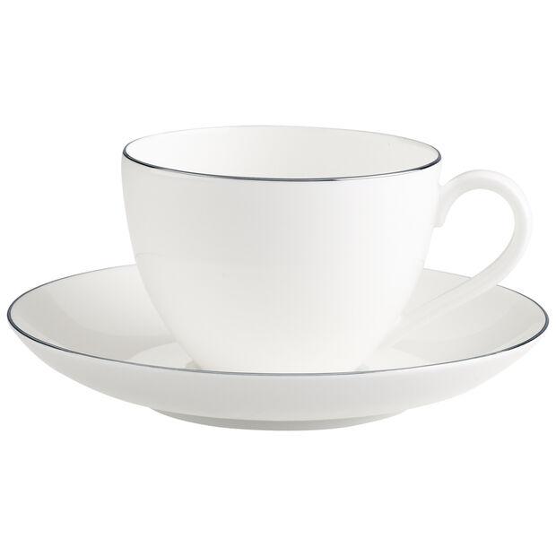 Anmut Platinum No.1 Tazza caffè con piattino 2pz, , large
