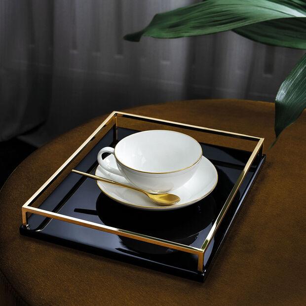 Anmut Gold piattino per tazza da tè, diametro 15 cm, bianco/oro, , large