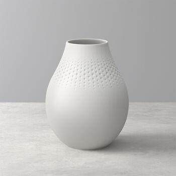 Manufacture Collier blanc Vaso Perle alto 16x16x20cm