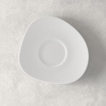 Organic White piattino per tazza da caffè, bianco, 17,5 cm