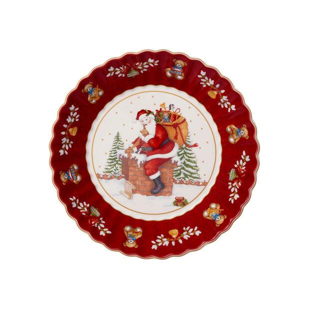 Toy's Fantasy ciotola grande motivo Babbo Natale sul tetto, rosso/multicolore, 25 x 25 x 5 cm, , large