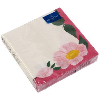 Tovaglioli di carta Rose Sauvage Framboise 33x33cm, 20 pezzi