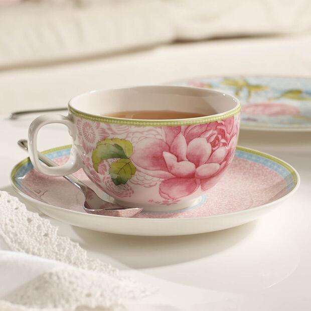 Rose Cottage Piattino tazza tè pink, , large