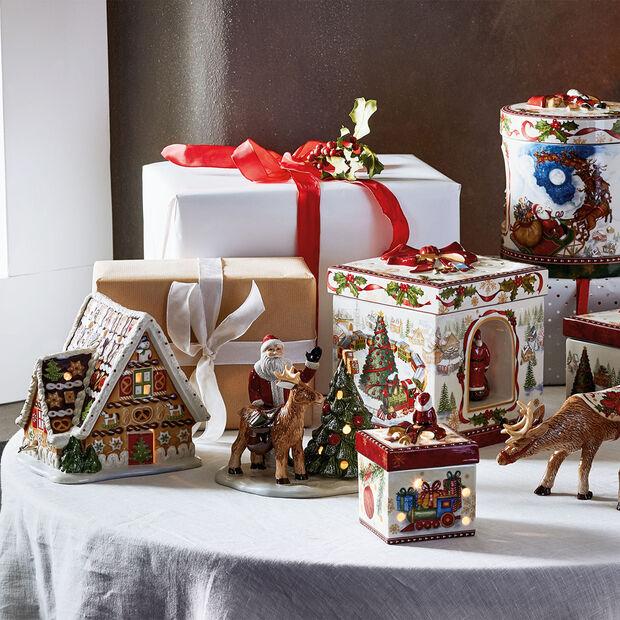 Christmas Toys casa de jengibre con caja de música, , large