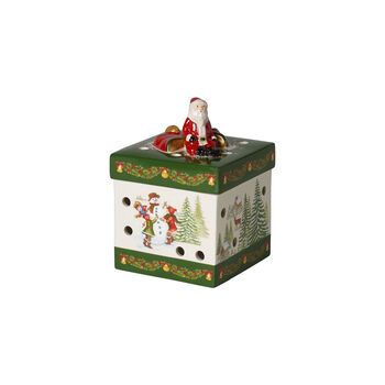 Christmas Toys Caja regalo pequeña cuadrada Santa 9x9x13cm