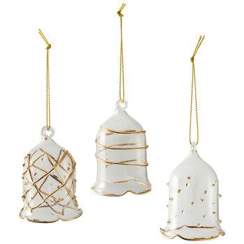 Winter Collage Accessoires Campana in vetro - oro Set3 16x11x6cm