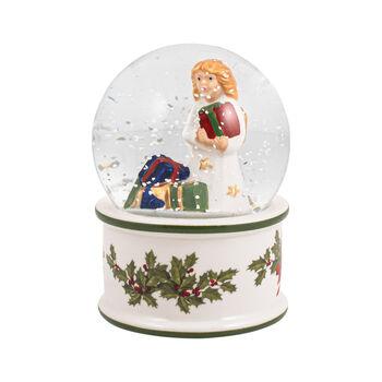 Christmas Toys bola de nieve pequeña con Niño Jesús, 6,5 x 6,5 x 9 cm
