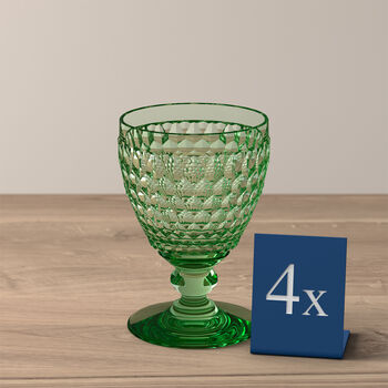 Boston Coloured copa de vino blanco, 4 unidades, verde