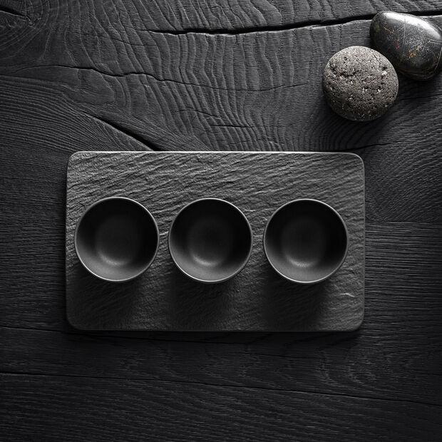 Manufacture Rock set di coppette per salse, nero/grigio, 8 x 8 x 4 cm, 4 pezzi, , large