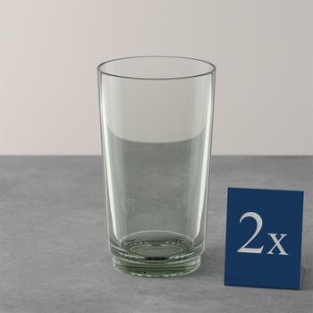 like by Villeroy & Boch it's my match mineral set de vasos largos, verde, 8 x 14 cm, 2 unidades