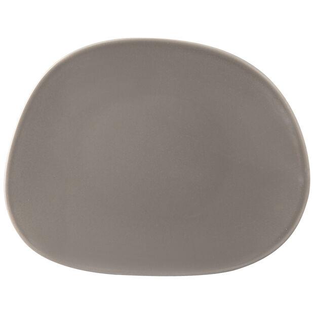Organic Taupe plato de desayuno, marrón topo, 21 x 17 x 2 cm, , large