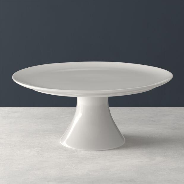 For Me piatto da torta con base, bianco, 30 x 30 x 13 cm, , large