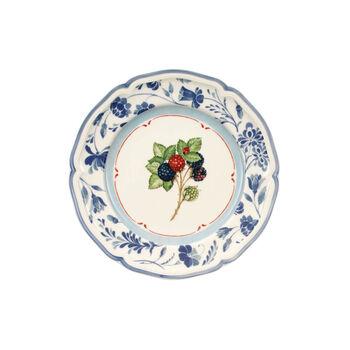 Cottage plato de desayuno azul mora