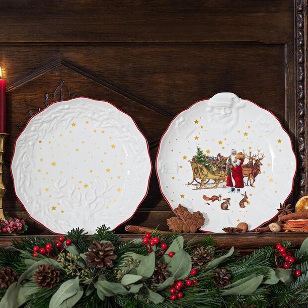 Toy's Fantasy ciotola con rilievo di Babbo Natale Nostalgia, multicolore/rossa/bianca, 24 x 25 x 4,6 cm, , large