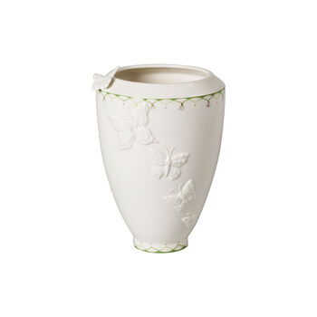 Colourful Spring jarrón alto, blanco/verde
