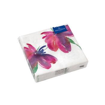 Tovaglioli di carta Artesano Flower Art Cocktail 25x25cm, 20 pezzi