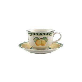 French Garden Fleurence taza taza té con plato de 2 piezas