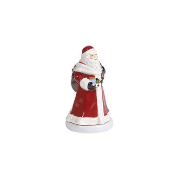 Nostalgic Melody figura giratoria de Papá Noel, rojo, 8 x 8 x 15 cm