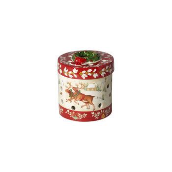 Christmas Toy's figura de paquete de regalo pequeño y redondo, rojo/varios colores, 9,5cm