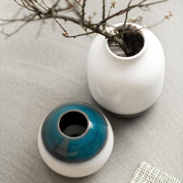 Lave Home jarrón Egg Shape, 14,5x14,5x13cm, azul claro, , large