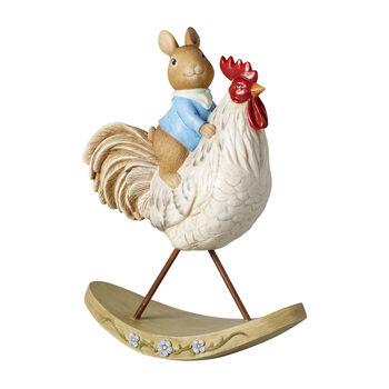 Bunny Tales figura decorativa, coniglio con gallina