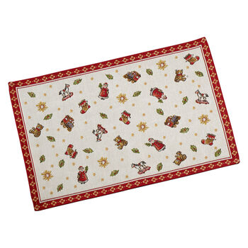 Toy's Delight salvamanteles de tapiz con motivos de juguetes, rojo/varios colores, 32 x 48cm