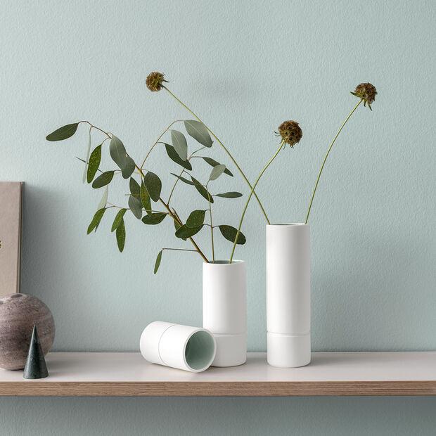 it's my home vaso medio, 6x15 cm, verde/bianco, , large