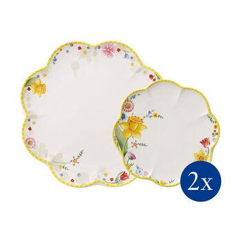 Spring Awakening set di piatti, fiori, 4 pezzi, per 2 persone
