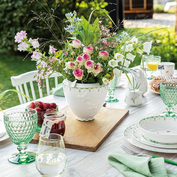 Colourful Spring jarrón ancho, blanco/verde, , large