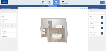 passo 3 programma di progettazione bagni online la progettazione