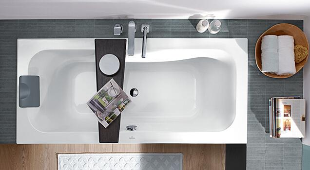 Vasca Da Bagno Più Piccola : Allestire un piccolo bagno con vasca villeroy boch
