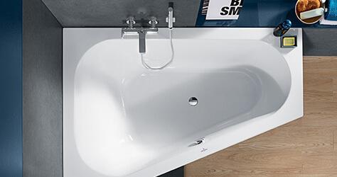Vasca Da Bagno Stretta : Allestire un piccolo bagno con vasca villeroy boch