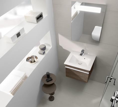piccolo bagno con doccia soluzioni per il vostro spazio villeroy boch. Black Bedroom Furniture Sets. Home Design Ideas