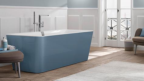 arredobagno con sfumature blu limpide e rilassanti. Black Bedroom Furniture Sets. Home Design Ideas