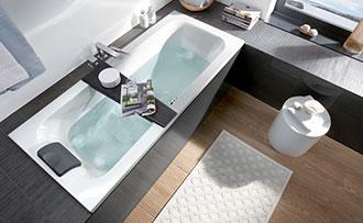 Tenda Per Vasca Da Bagno Piccola : Allestire un piccolo bagno con vasca villeroy & boch