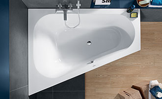 Allestire un piccolo bagno con vasca villeroy boch