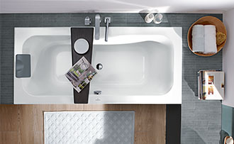Vasca Da Bagno Salvaspazio : Allestire un piccolo bagno con vasca villeroy & boch