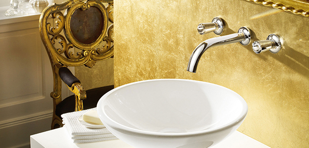 Rubinetti per lavabi a muro di villeroy boch forme moderne for Rubinetti a parete bagno