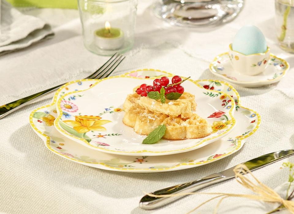 Ricetta waffel con frutta fresca for Decorazione waffel