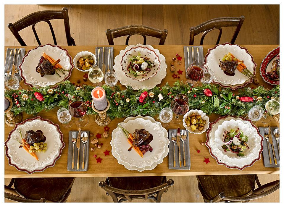 Tavole natalizie moderne e tradizionali di villeroy boch for Tavole moderne
