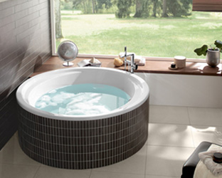 Vasche da bagno rilassarsi con eleganza villeroy boch - Vasche da bagno rotonde ...