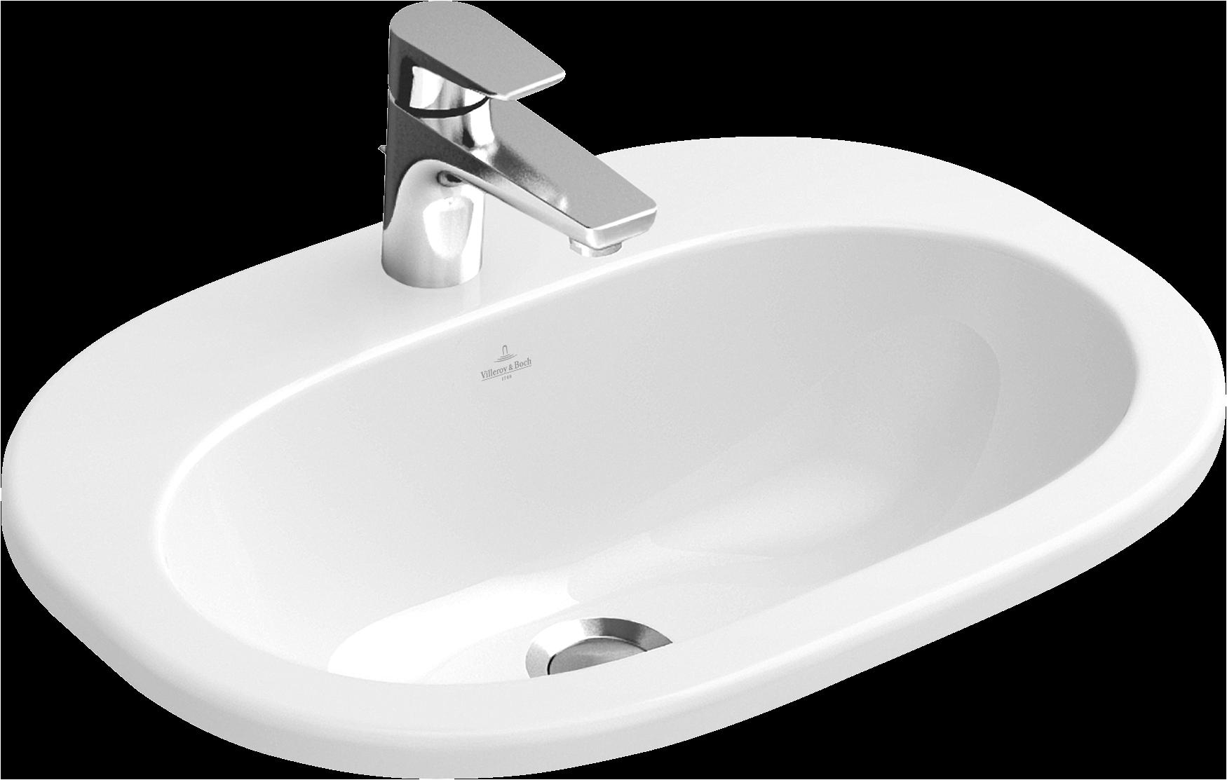 lavabo da incasso ovale